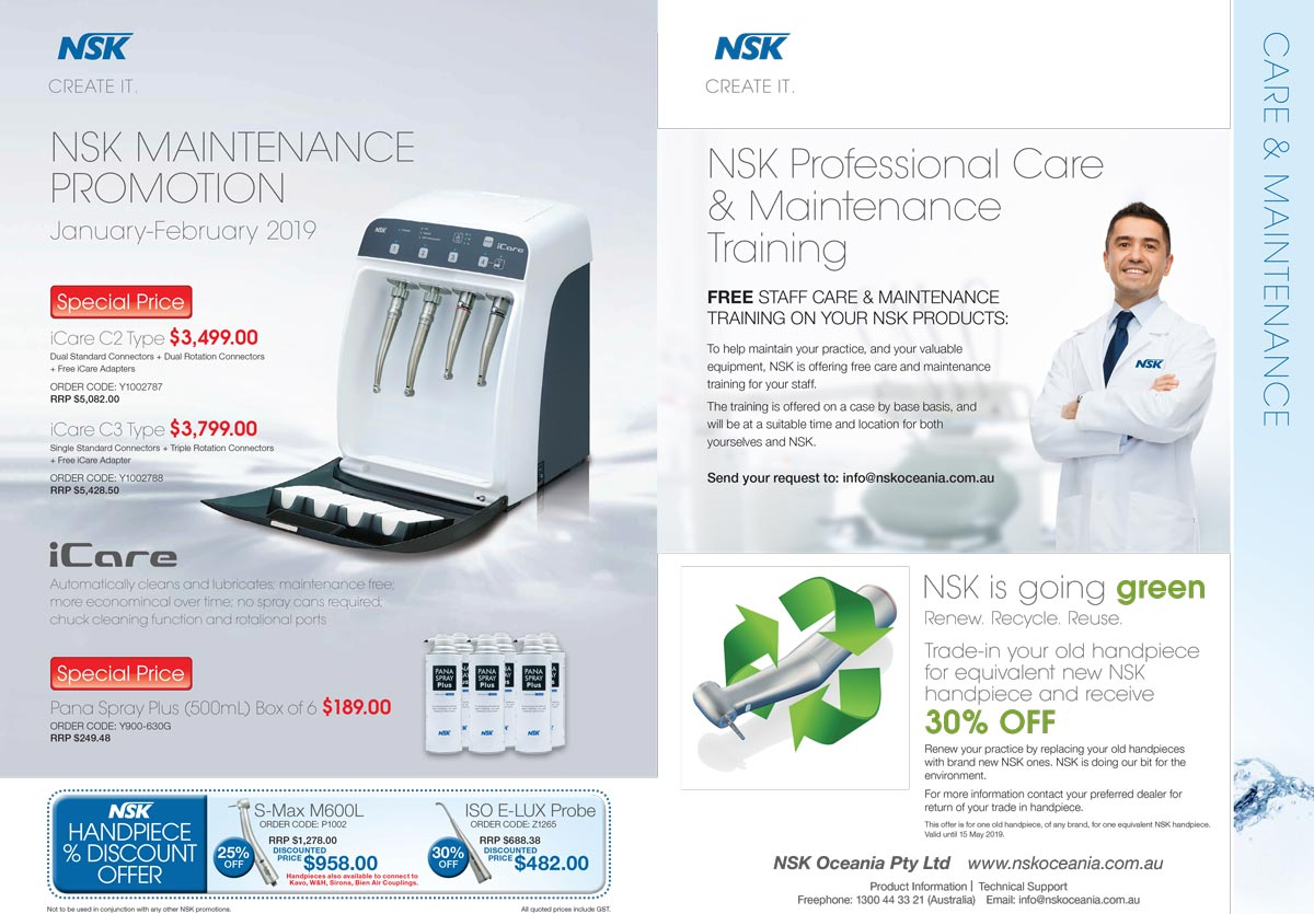 NSK Maintenance Promotion January – February 2019